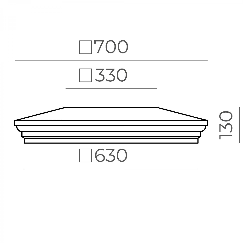 Крышка на столб 66.68.130.1