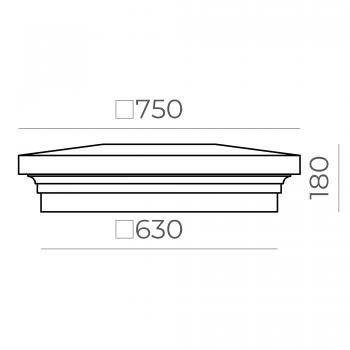 Крышка на столб 66.68.180