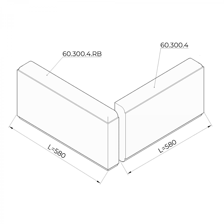 Рустовый камень 60.300.4